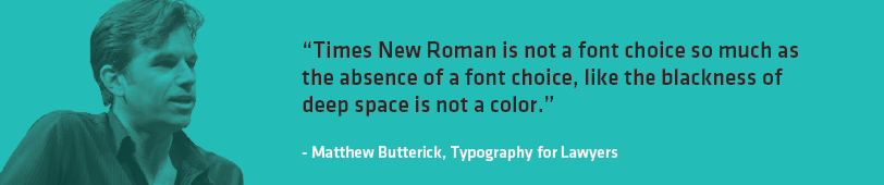 Times New Roman Quote